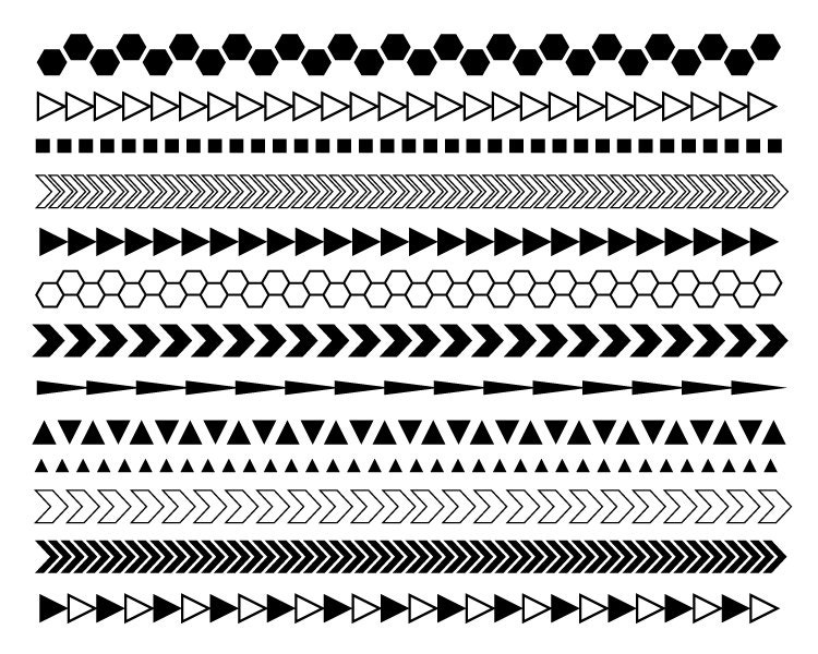 Waves Clipart Border Black And White