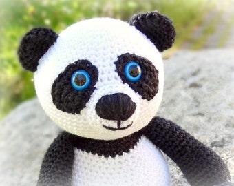 PATTERN - Panda (crochet, amigurumi) - in English