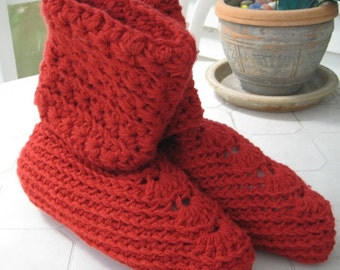Red Slouch Slippers