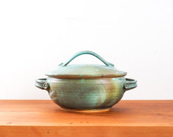 Made to Order ** Yunnan Steampot in Mineral Green with Robin's Egg. Wheel-thrown ceramic stoneware rice cooker, steamer, pottery