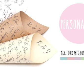 Personalised  confetti cones pack of 5