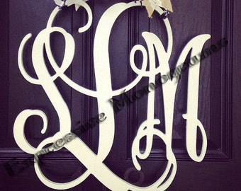 Various Sizes Home Decor, Wooden Monogram, Wall Art, Initial  monogram,Unpainted, Unfinished,Wedding Decor