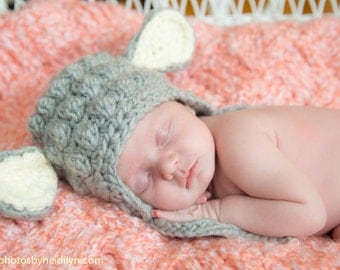 Lamb Hat - Baby Lamb Hat - Crochet Lamb photo prop - Newborn Lamb Hat- Lamb Hat for boys - Lamb hat for girls - Newborn photo prop - Lamb