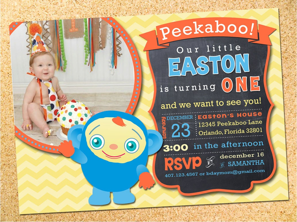 peekaboo birthday party