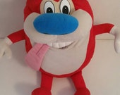 Nickelodeon Ren Stimpy Red Cartoon 1992 Plush Doll Toy