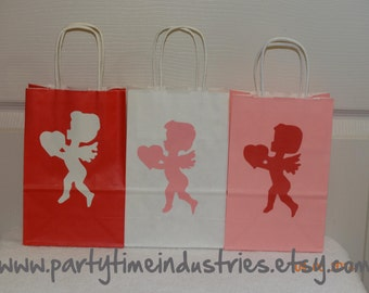 10 Valentine's Day Cupid with Heart Candy/Favor/ Goodie Bags