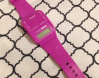 Retro Talking Watch Pink