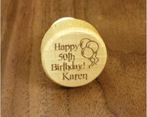 Engraved Wine Bottle Stopper Cork for Birthday Gift and Birthday Party Favors (Quantity 14 or Less)