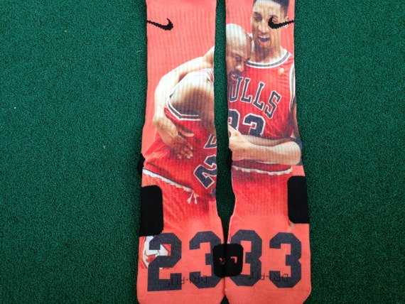 Flu Game Socks Jordan Flu Game Customized