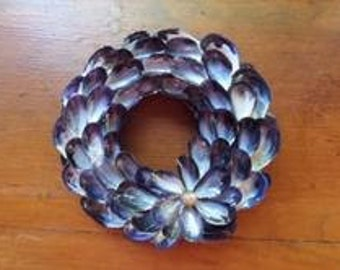 5 inch Mussel Shell Wreath