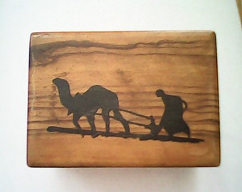 OLIVE WOOD BOX  Hand Crafted  Bethlehem Visual Poetry