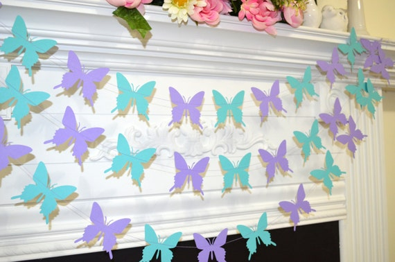 ... purple butterfly, butterfly theme decor, birthday decor, baby shower