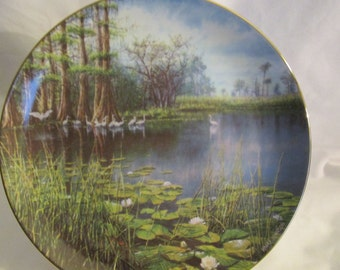 """collector's plate """"The Everglades"""" W.S. George Fine China  in America the Beautiful series 1990"""