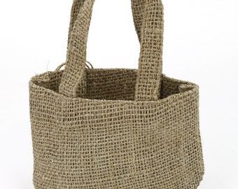 Burlap bag with Handle, 3 sizes (BHBK1xx-12) very good for weddings, bags favors, groceries, going to bhe beach, rustic, country, primitive