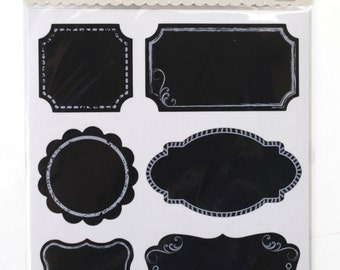 4 sheets of Chalkboard Label stickers 6 assorted designs total 24 stickers . Great for primitive packing, decorations, crafts. (CBL9169)