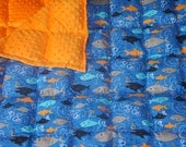 Large/Twin/Adult  Sized Fleece or minky backed Weighted Blanket (40x70) great for calming your sensory child or you.