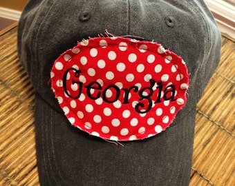 Georgia raggy patch hat