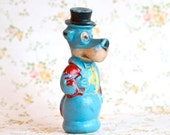 Huckleberry Hound - Antique Blue Cartoon Toy