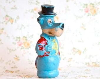 Huckleberry Hound - Antique Blue Cartoon Toy