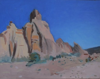 Modern Semi-abstract Landscape Painting - Moab Formations, Shelley Hull