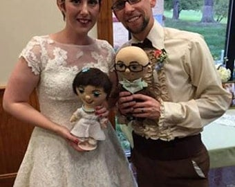 Unique Custom doll bride and groom -  Selfie doll,  character doll, rag doll, art doll, personalized doll