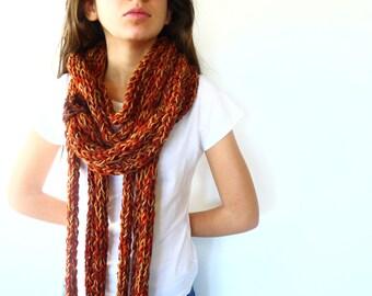 collar bufanda de lana bufanda circular bufandas de punto hechas a mano bufandas