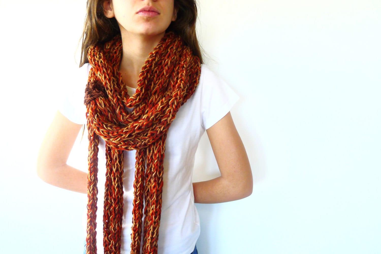 Collar bufanda de lana bufanda circular bufandas de punto - Bufandas de lana originales ...