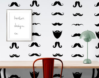 Large Mustache Wall Decal