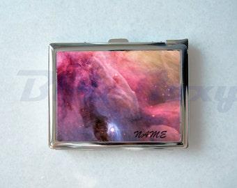 Galaxy Nebula Cigarette Case with Lighter, Cigarette Box, Card Holder