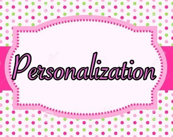 Add personalization to any listing