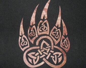Celtic Paw Quilt Applique Pattern Design
