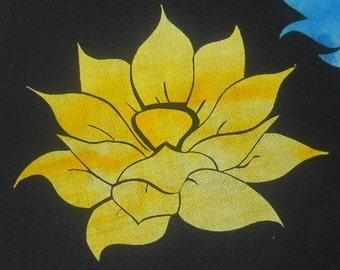 Easy Beautiful Lotus Blossom Flower Quilt Applique Pattern Design