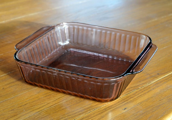 Pyrex Amethyst Glass 2 Quart Loaf Pan 222 S Ovenware Baking