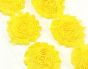 Yellow -  Shabby flower trim by the yard - Shabby flowers