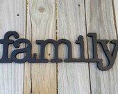Wooden family sign wall hanging , wall decor