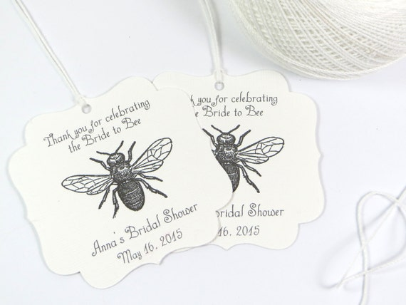 Items Similar To Bride To Bee Bridal Shower Favor Tags Mom To Bee Baby Shower Tags Meant To