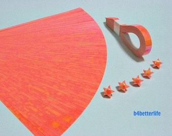 200 Strips Orange Color Mini Size Lucky Stars Origami Paper Kits. 24.5cm x 1.0cm. (AV paper series). #SPK-122.