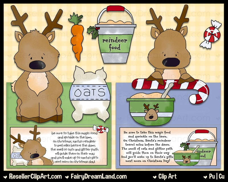 Reindeer Food Clip Art Commercial Use Digital by ResellerClipArt
