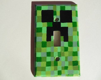 Minecraft Creeper Inspired Light Switch Cover