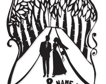 Easy Personalized Wedding Gift   Paper cut wedding gifts   Custom Wedding & Anniversary gift ideas