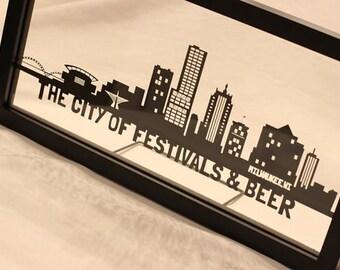 Milwaukee PaperCut Skyline Wall Art | Milwaukee Skyline | Milwaukee, WI Gifts