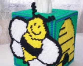 Bumble Bee Tissue Box Cover Plastic Canvas Pattern