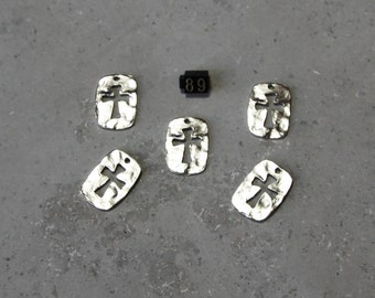 5 Cut Out Cross  Charms   #89
