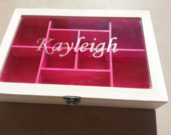 personalized wooden trinket box