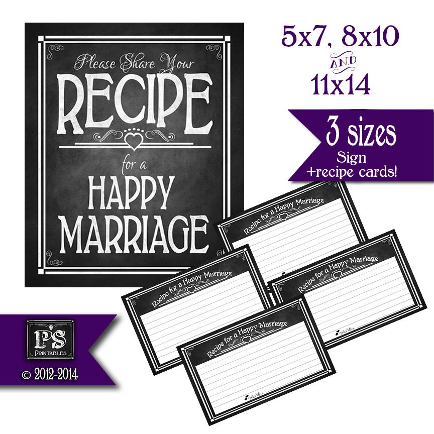 This is an image of Agile Recipe for a Happy Marriage Printable
