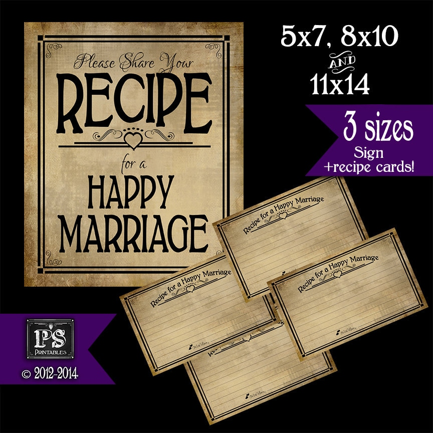 It is an image of Mesmerizing Recipe for a Happy Marriage Printable