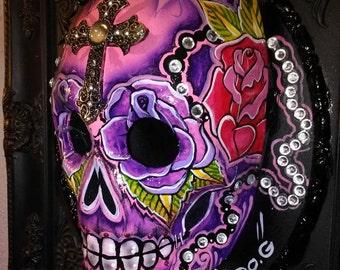 Embellished Rose Skull