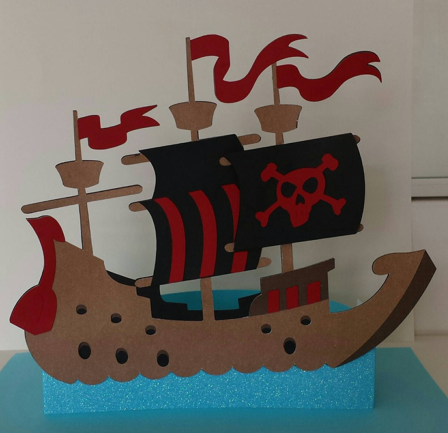 Pirate ship party decoration / by PixieGlitterCreation on Etsy