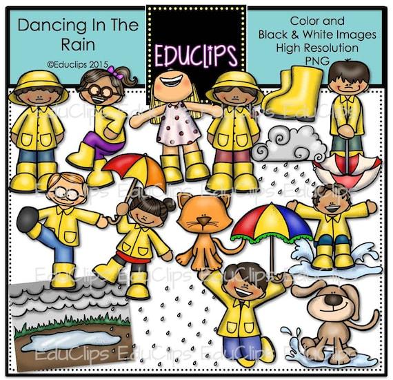 Dancing In The Rain Clip Art Bundle