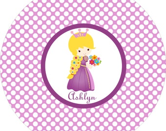 Monogrammed princess purple plate with polka dots! A custom, fun and UNIQUE gift idea! Perfect for birthday and holiday gifts for kids!